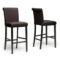 Baxton Studio Bianca Bar Stool 2-piece Set