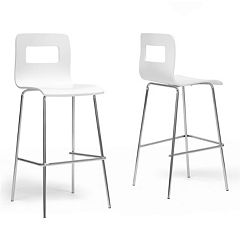 Baxton Studio Greta Modern Bar Stool 2-piece Set