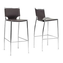 Baxton Studio Montclare Modern Bar Stool 2-piece Set