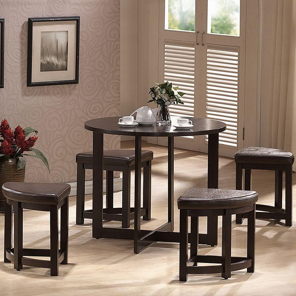 Baxton Studio Rochester Bar Table & Stool 5-piece Set