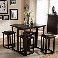 Baxton Studio Leeds Collapsible Pub Table 5-piece Set