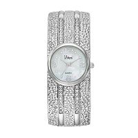 Vivani Women's Crystal Dimpled Bangle Watch