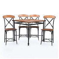 Baxton Studio Broxburn Pub Table & Chair 5 pc Set