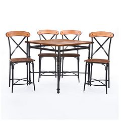 Baxton Studio Broxburn Pub Table & Chair 5-piece Set