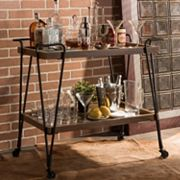 Baxton Studio Alera Wheeled Bar Cart