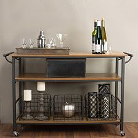 Baxton Studio Lancashire Kitchen Cart