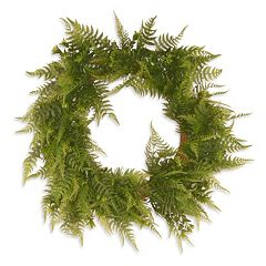 National Tree Company 22' Garden Accents Artificial Boston Fern Wreath