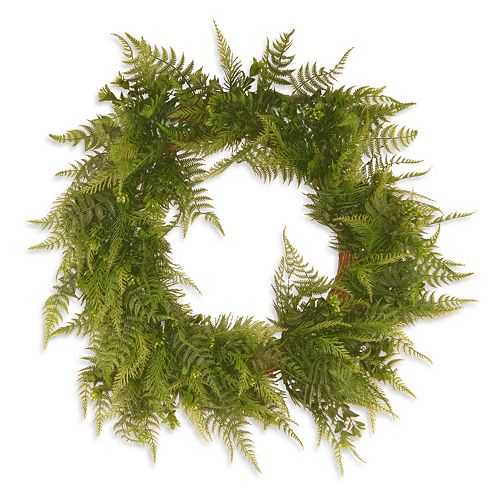 "National Tree Company 22"" Garden Accents Artificial Boston Fern Wreath"