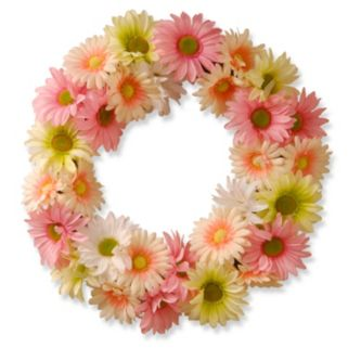 "National Tree Company 19"" Garden Accents Artificial Cosmos Floral Wreath"