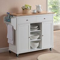 Baxton Studio Meryland Modern Kitchen Island Cart