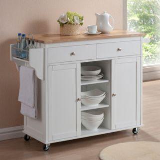 Baxton Studio Meryland Modern Kitchen Island Cart