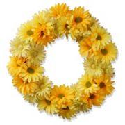 National Tree Company 19' Garden Accents Artificial Yellow Cosmos Floral Wreath