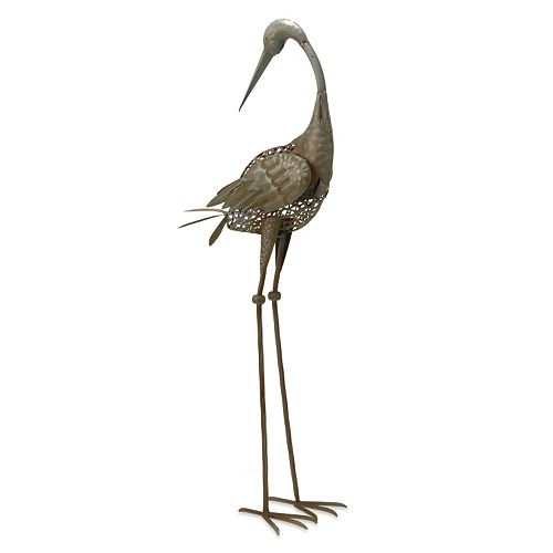 "National Tree Company 35"" Garden Accents Turned Crane Garden Decor"