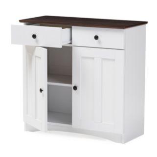 Baxton Studio Lauren Buffet Kitchen Cabinet