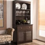 Baxton Studio Agni Hutch Kitchen Cabinet