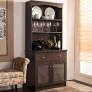 Baxton Studio Agni Hutch Kitchen Cabinet