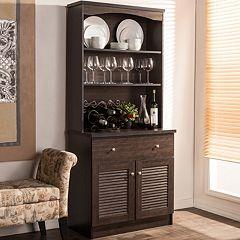 Baxton Studio Agni Hutch Kitchen Cabinet by