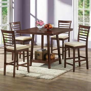 Baxton Studio Kelsey Dining Table & Chair 5-piece Set