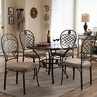 Baxton Studio Hera Dining Table & Chair 5-piece Set