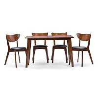 Baxton Studio Sumner Dining Table & Chair 5 pc Set