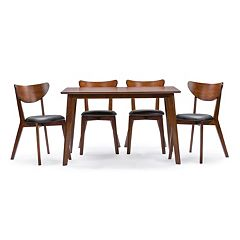 Baxton Studio Sumner Dining Table & Chair 5-piece Set