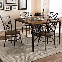Baxton Studio Vintner Dining 5-piece Set