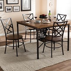 Baxton Studio Vintner Dining 5 pc Set