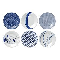 Royal Doulton Pacific 6 pc Tapas Plate Set