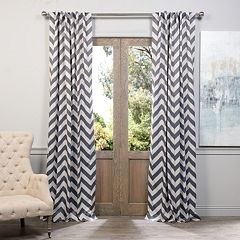 EFF Blackout 1-Panel Fez Chevron Window Curtain