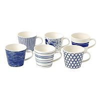 Royal Doulton Pacific 6 pc Accent Mug Set