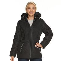 Women's d.e.t.a.i.l.s Hooded Chevron-Stitch Puffer Jacket