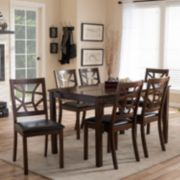 Baxton Studio Mozaika Dining Table & Chair 7-piece Set