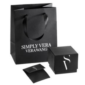 Simply Vera Vera Wang 14k White Gold 3/4 Carat T.W. Diamond Halo Engagement Ring