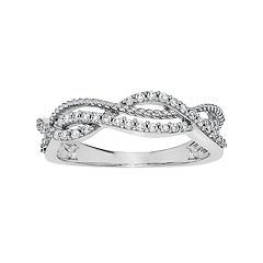 Simply Vera Vera Wang 14k White Gold 1/4 Carat T.W. Diamond Woven Ring