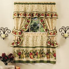 Apple Orchard 5 pc Swag Tier Cottage Kitchen Window Curtain Set
