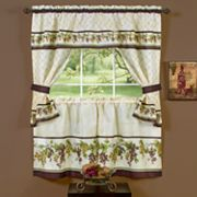 Tuscany 5 pc Swag Tier Cottage Kitchen Window Curtain Set