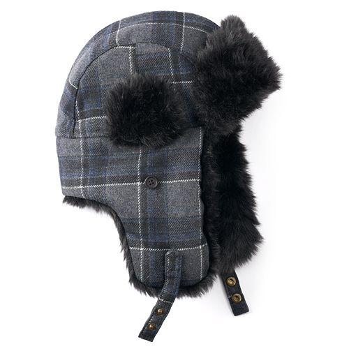 Men s Apt. 9® Plaid Wool-Blend Trapper Hat ebf196e718d5