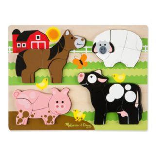 Melissa & Doug Farm Animals Chunky Jigsaw Puzzle