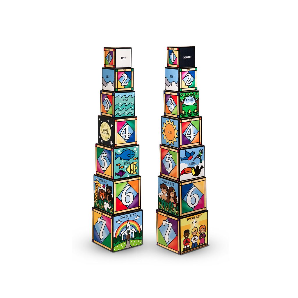 Melissa & Doug Days of Creation Stacking & Nesting Blocks