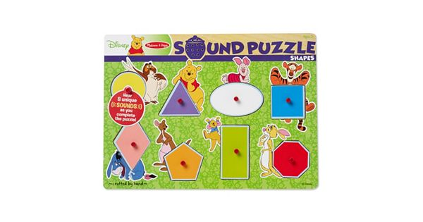 Disney S Winnie The Pooh Shapes Wooden Sound Puzzle By