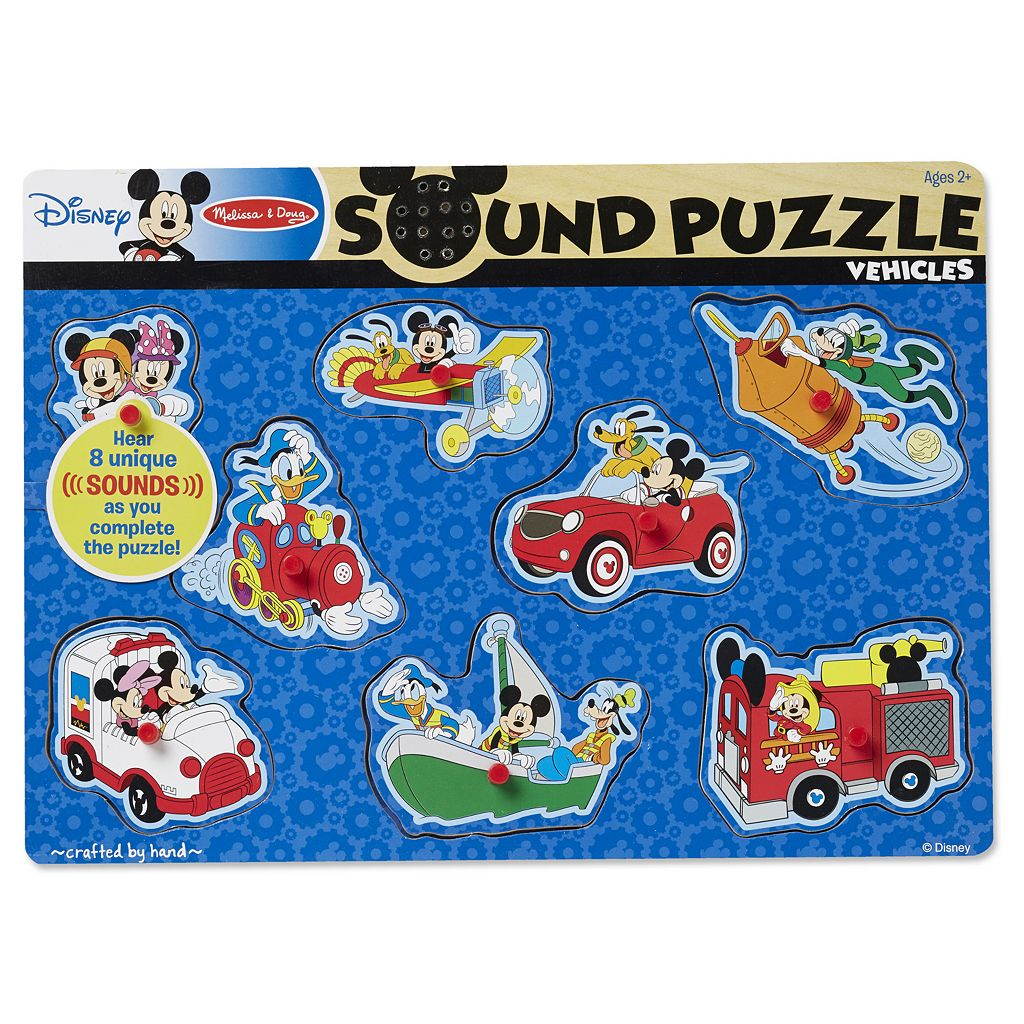 Disney's Mickey Mouse & Friends Vehicles Wooden Sound Puzzle by Melissa & Doug