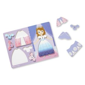 Disney's Sofia the First Wooden Dress-Up Chunky Puzzle by Melissa & Doug