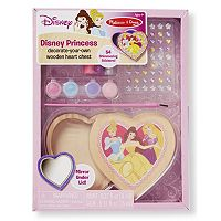 Disney Princess Decorate-Your-Own Wooden Heart Chest by Melissa & Doug