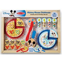 Disney's Mickey Mouse Wooden Pizza & Birthday Cake Set by Melissa & Doug