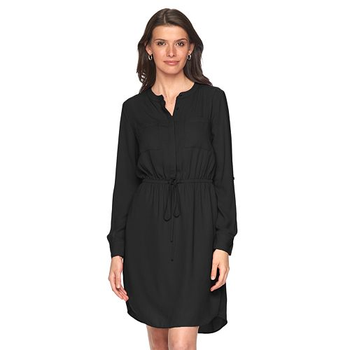 Women's Apt. 9® Crepe Shirt Dress
