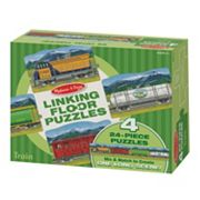 Melissa & Doug 96 pc Trains Linking Floor Puzzle