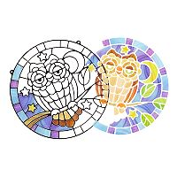Melissa & Doug Owl Stained Glass Made Easy