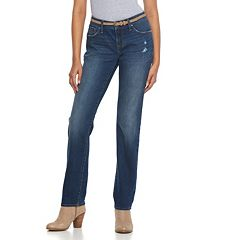 Women's Apt. 9® Curvy Fit Straight-Leg Jeans