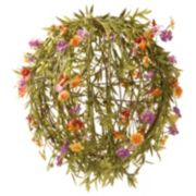 """National Tree Company 12"""" Garden Accents Artificial Flower Ball"""