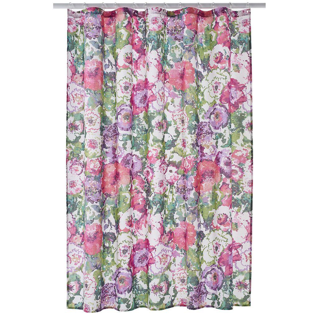 LC Lauren Conrad Watercolor Garden Shower Curtain